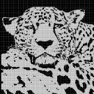 Jaguar 2 silhouette cross stitch pattern in pdf