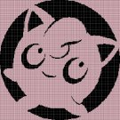 Jigglypuff silhouette cross stitch pattern in pdf