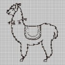 Lama silhouette cross stitch pattern in pdf