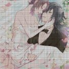 Anime wedding DMC cross stitch pattern in pdf DMC