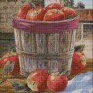 Apple in a bucket DMC cross stitch pattern in pdf DMC