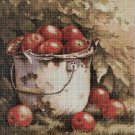 Apples DMC cross stitch pattern in pdf DMC