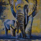 Art Elephant Mom and Baby DMC cross stitch pattern in pdf DMC