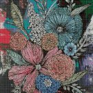 Art flowers DMC cross stitch pattern in pdf DMC