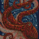 Art octopus DMC cross stitch pattern in pdf DMC