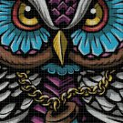 Art owl DMC cross stitch pattern in pdf DMC