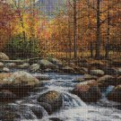 Autumn DMC cross stitch pattern in pdf DMC