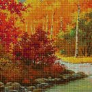 Autumn at the river DMC cross stitch pattern in pdf DMC