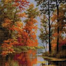 Autumn in the forest 2 DMC cross stitch pattern in pdf DMC