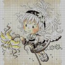 Baby flower fairy DMC cross stitch pattern in pdf DMC