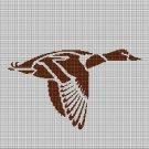 Mallard silhouette cross stitch pattern in pdf