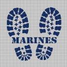 Marines silhouette cross stitch pattern in pdf