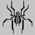Mechanic spider silhouette cross stitch pattern in pdf