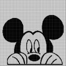 Mickey Mouse head 2 silhouette cross stitch pattern in pdf
