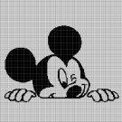 Mickey Mouse head 3 silhouette cross stitch pattern in pdf