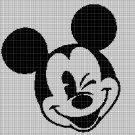 Mickey Mouse head 4 silhouette cross stitch pattern in pdf