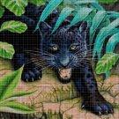 Black panther DMC cross stitch pattern in pdf DMC
