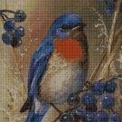 Blue Bird DMC cross stitch pattern in pdf DMC