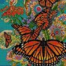 Butterflies DMC cross stitch pattern in pdf DMC