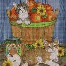 Cats and apples DMC cross stitch pattern in pdf DMC