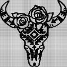 Native American's symbol 2 silhouette cross stitch pattern in pdf
