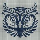 Owl Head silhouette cross stitch pattern in pdf