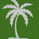 Palm tree silhouette cross stitch pattern in pdf