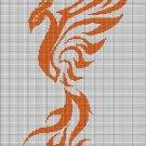 Phoenix 5 silhouette cross stitch pattern in pdf