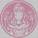 Princess Aurora silhouette cross stitch pattern in pdf