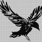Raven silhouette cross stitch pattern in pdf