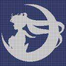 Sailor moon 2 silhouette cross stitch pattern in pdf