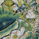 Birds and flowers DMC cross stitch pattern in pdf DMC
