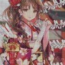 Anime girl DMC cross stitch pattern in pdf DMC
