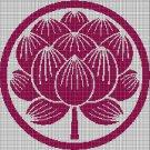 Artichoke silhouette cross stitch pattern in pdf