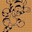 Baby Tiger silhouette cross stitch pattern in pdf
