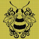 Bee2 silhouette cross stitch pattern in pdf
