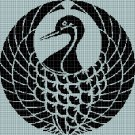 Crane silhouette cross stitch pattern in pdf