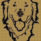Dog head 3 silhouette cross stitch pattern in pdf