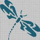 Dragonfly silhouette cross stitch pattern in pdf
