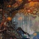 Magic tree DMC cross stitch pattern in pdf DMC