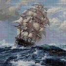 Storm at sea DMC cross stitch pattern in pdf DMC