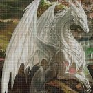 White dragon DMC cross stitch pattern in pdf DMC