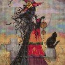 Witch DMC cross stitch pattern in pdf DMC