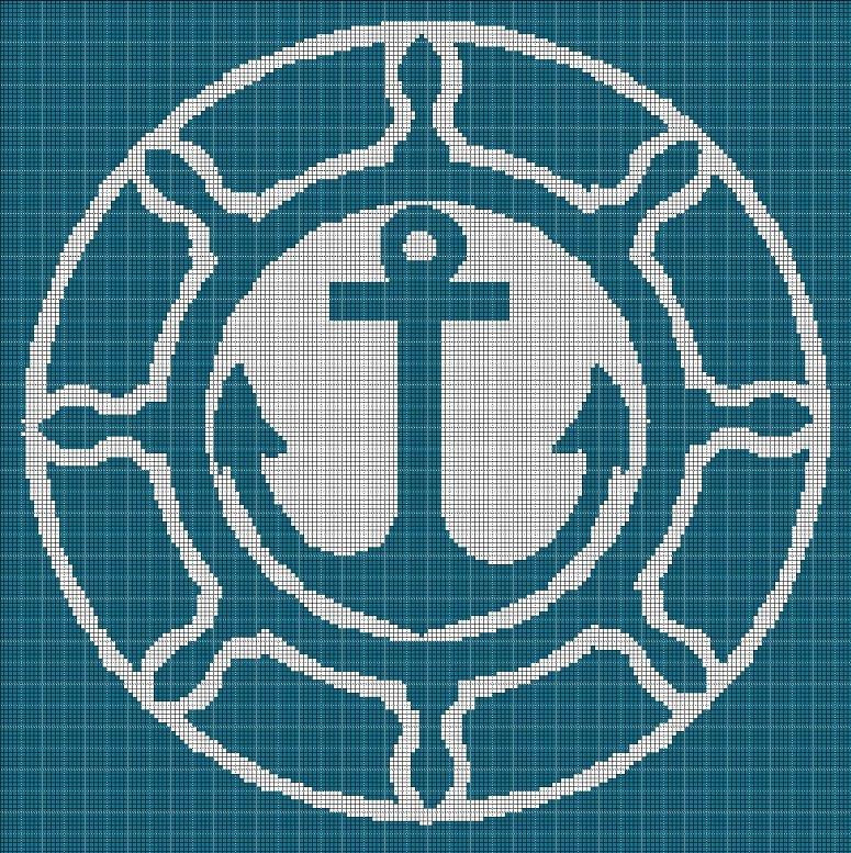 Anchor 3 silhouette cross stitch pattern in pdf