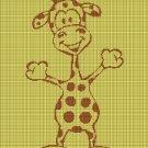 Baby giraffe 2 silhouette cross stitch pattern in pdf