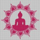 Buddha 2 silhouette cross stitch pattern in pdf