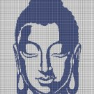 Buddha head silhouette cross stitch pattern in pdf