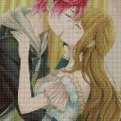 Anime kiss DMC cross stitch pattern in pdf DMC