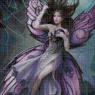 Fairy in the spider web DMC cross stitch pattern in pdf DMC