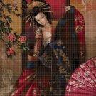 Fantasy beauty with umbrella 3 DMC cross stitch pattern in pdf DMC